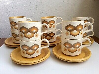 Royal Worcester Palissy Kalabar Cup & Saucer Retro 70s Mid Century 10 Available • 4.50£