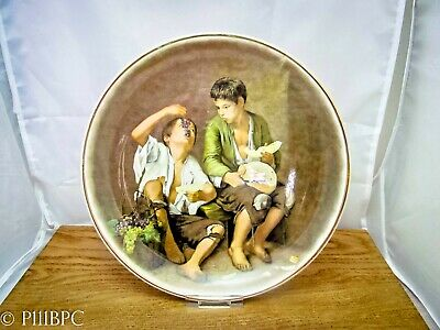 Lord Nelson Pottery Plate Children Eating Bread And Grapes With Guilding • 19£
