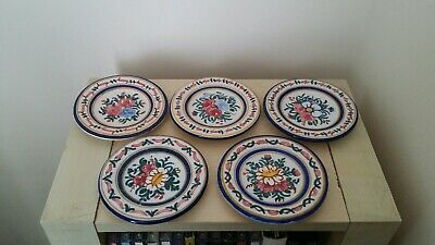 Vintage Set Of 5 Miniature Plates European Continental 8cms Diameter  • 9£