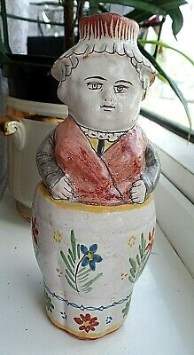 Rare Antique French Faience Character Pichet Pot Malicorne Type Jar A • 140£