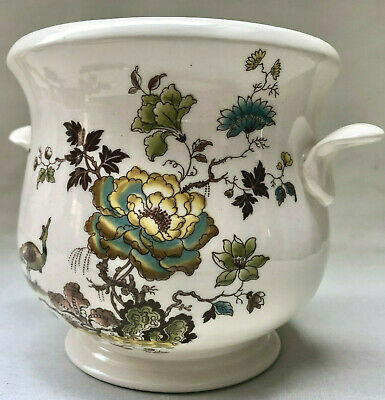 Vintage Ceramic Planter With Flower Pattern By Masons Formosa, Indoor Plant Pot • 14£