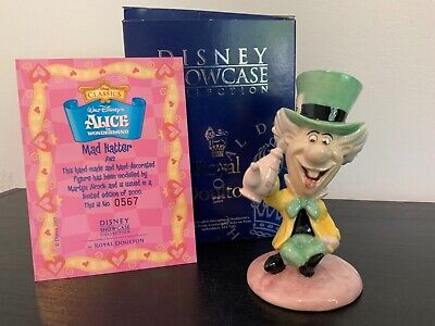 Mad Hatter Royal Doulton Disney Showcase MINT CONDITION • 175£