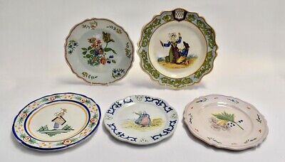 Five French Faience Plates, Formantraux, • 140£