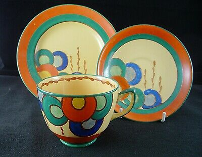 EDNA BEST Signed Art Deco Trio For Lawleys. Art Pottery/Pearl Pottery • 35£