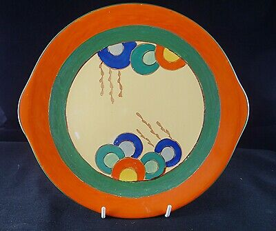 EDNA BEST 26cm Art Deco Sandwich Plate For Lawleys. Art Pottery/Pearl Pottery  • 20£