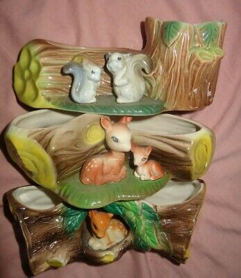 WITHERNSEA  EASTGATE HORNSEA FAUNA  Squirrel POTTERY X 3 Large Logs #73 #102 #91 • 10.80£
