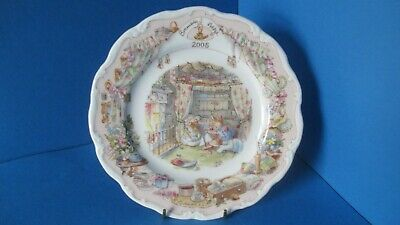 Boxed Brambly Hedge Rare 2005 8 Inch Plate Royal Doulton 'playing In Saltapples  • 160£