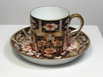Antique Royal Crown Derby Coffee Can & Saucer Pattern 2451 • 4.95£