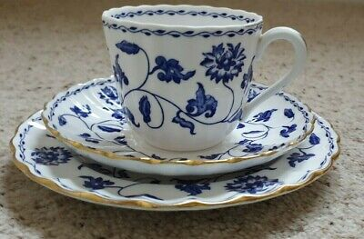 Old Copeland Spode Blue Colonel Cup, Saucer, Plate Trio • 6£