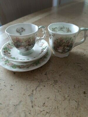 Royal Doulton Brambly Hedge Miniature Cup Saucer Plate And Beaker - Summer  • 17.99£