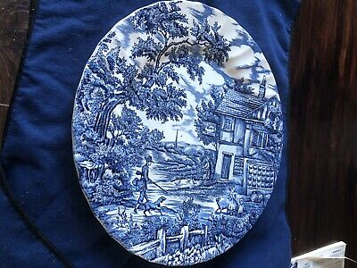 The Hunter By Myott China Blue And White Plate Hunter With Dog  • 0.99£