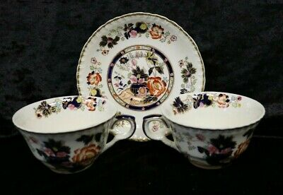 Vintage Masons Ironstone Breakfast Cups And Saucer Mandarin Pattern  (e2) • 5£