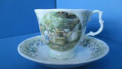 Brambly Hedge ,RARE  THE MEETING  Cup Saucer FROM THE SURPRISE OUTING SERIES • 195£
