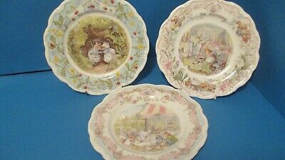 SET OF 3 BRAMBLY HEDGE 8  SPECIAL OCCASIONS  PLATES  BONE CHINA 1st QUALITY • 55£
