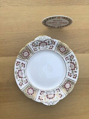 Royal Crown Derby Red Panel Cake Plate 24 Cm 1st Quality Excellent Condition • 39£