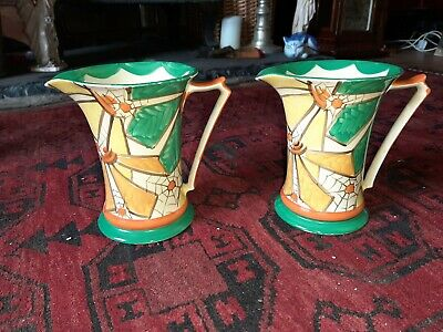 Superb Pair Of Art Deco Myott Jugs • 40£