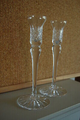 Royal Brierley Crystal Pair Of Candle Sticks - Excellent Condition • 18£