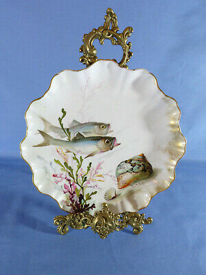 Doulton Burslem Early 20th Century Hand-Painted Fish Pattern Cabinet Plate #3 • 55£