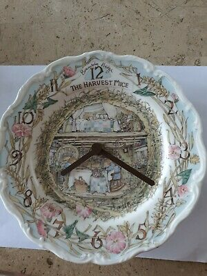 BRAMBLY HEDGE ROYAL DOULTON HARVEST MICE WALL CLOCK1989  Working. • 27.50£