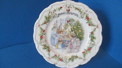 ROYAL DOULTON BRAMBLY HEDGE  MERRY MIDWINTER PLATE 8in • 45£