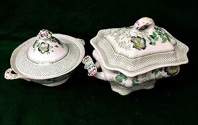 Vintage Masons Paynsley Pattern Lidded Vegetable Tureen & Large Soup Tureen • 25£