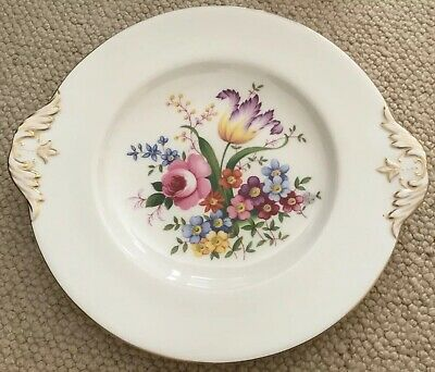Abbeydale Bone China Cake Plate For Abbeydale Duffield Vgc • 5£