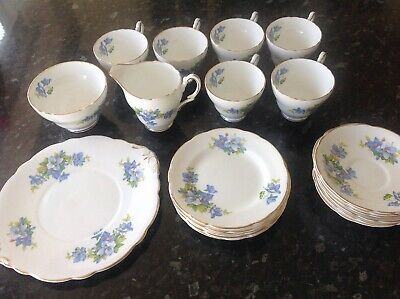 Regency Clematis Bone China Set Lovely Condition • 38£