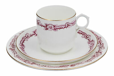 A Old Trio Bramble / Thistle Design Cup Saucer & Plate 19th Century ? • 29.95£