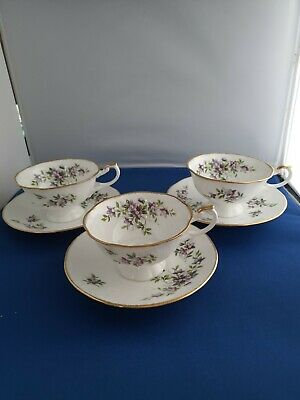 Vintage Royal Heritage Bone China   3 Cups And Saucers  • 12.99£