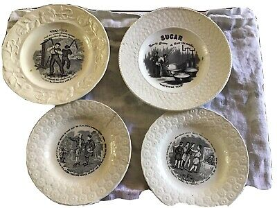 Collection Of 4 Creamware Plates • 120£