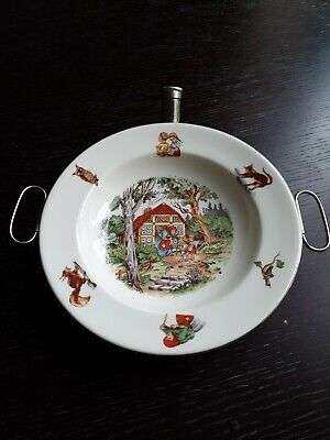 Vintage Dutch 1950's Hansel And Gretel Nursery China Bowl With Warmer  • 20£
