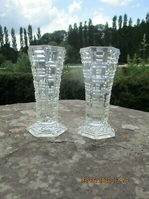 Pair Of Glass Vases • 10£