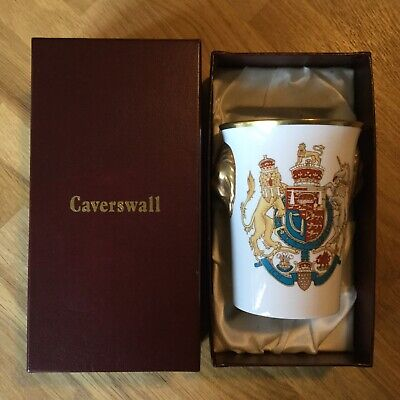 Caverswall China - Lion Head Beaker WEDDING OF PRINCE CHARLES & DIANA Ltd Edit. • 15£
