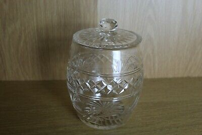 Large Vintage Cut Glass Lidded Bon Bon Jar • 7.99£