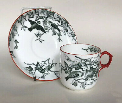 Victorian George Jones China 'Ivy Bower' Aesthetic Movement Cup & Saucer C.1881 • 24.99£