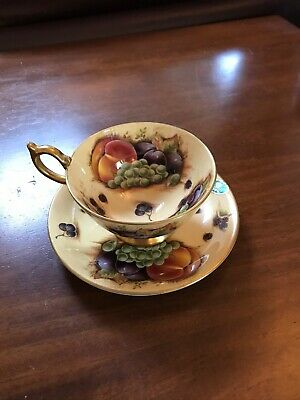 Aynsley Orchard Gold Cup And Saucer Great Condition  • 50£