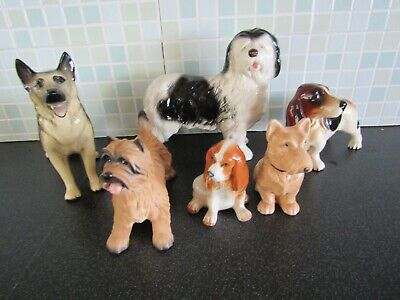 Job Lot Of 6 China Dogs Various Breeds Some Branded Some Unbranded • 24.99£