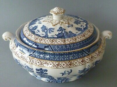 Booths Real Old Willow Tureen Or Lidded Vegetable Serving Dish • 39£