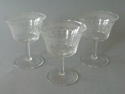 Pall Mall Lady Hamilton - 3 Champagne Coupe Glasses - 9.5 Cm Tall • 27£