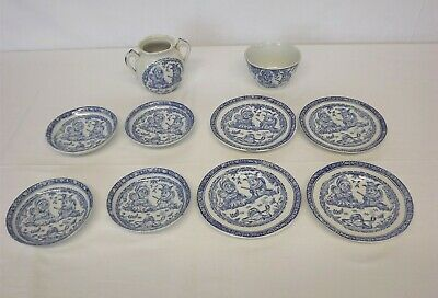 4 Plates/saucers, 1 Bowl, 1 Jar (Childs'), C. Allerton Late 19th C, Punch & Judy • 25£