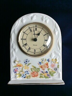 Aynsley Cottage Garden Fine Bone China Mantel Clock • 9£