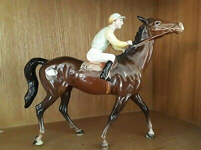 Beswick Race Horse And Jockey (Walking Racehorse) Excellent Condition • 169.99£