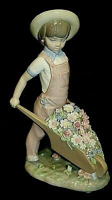 #1 LLADRO Daisa Boy With Barrow Of Flowers Figurine Ornament Collectable   D4 • 9.50£