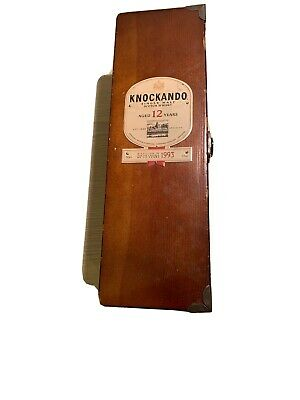 Vintage Knockando Whisky Box Hardwood Tongue & Groove Joints Worn Condition • 9.99£