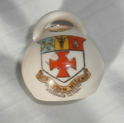 Goss Salt Pot Arms Of College Of Medicine Newcastle On-tyne Crest • 11.99£