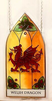 Stained Glass Sun-catcher Window Hanging Decoration - New Dragon Design Wales • 14.90£