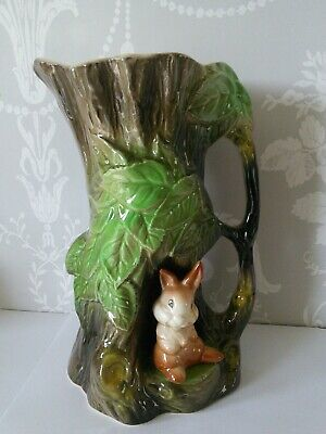 VINTAGE WITHERNSEA POTTERY EASTGATE FAUNA 8  Rabbit Jug Excellent Condition • 6.50£