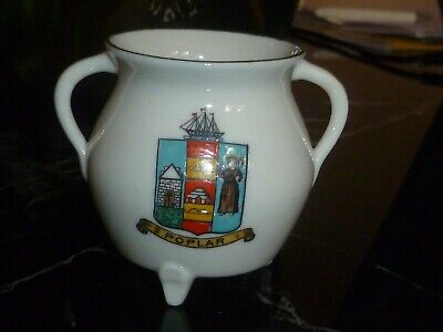 WH GOSS Crested China Model Of St Alban's Cooking Pot. Crest Of Poplar • 3£