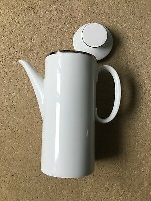 Thomas China - White With Wide Platinum Band: Coffee Pot • 16.99£