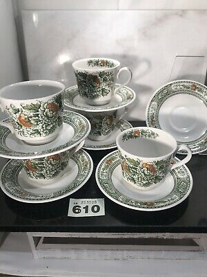 11Pc Woods & Sons Staffordshire Cups & Saucer Sets Staffordshire Canterbury • 16.50£